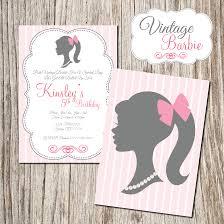 Invitation Cards For 40th Birthday Party Vintage Barbie Invitation Mckenzie U0027s 5th Birthday Ideas