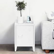 metal nightstand locker cabinet side end table with door and