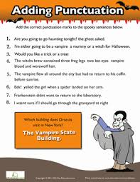 using punctuation this halloween worksheet education com