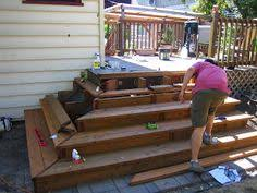 Corner Deck Stairs Design Corner Deck Stairs Home Pictures Of Decks Mid Level Decks