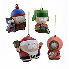 south park mold ornaments set of 4 assorted