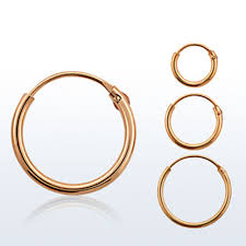 nose rings gold images Hinged nose ring hoop rose gold plated sterling silver choose jpg