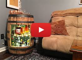 build a whiskey or wine barrel liquor cabinet video u2014 crafted