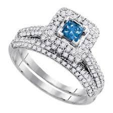 Diamond Wedding Ring Sets by White Gold Engagement U0026 Wedding Ring Sets Ebay