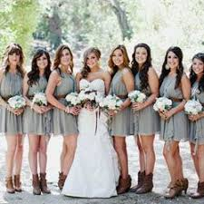 bridesmaid dresses with cowboy boots best 25 bridesmaids in boots ideas on bridesmaids