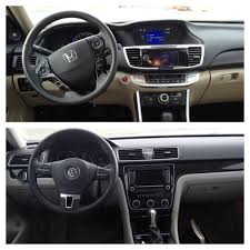 volkswagen passat 2014 interior comparison 2014 honda accord hybrid touring vs 2014 volkswagen