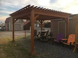 12 X 12 Pergola by 12x12 Wood Bedford Style Pergola Pine Creek Structures