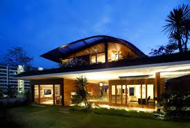 modern home design style roof garden design recent night front