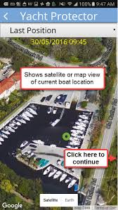 enlarged image demo live demo of yacht protector mobile app