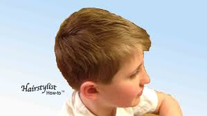 youtube young boys getting haircuts how to do a boy s haircut scissor over comb dry haircutting