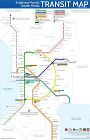 Metrorail Map Greater Manila Transit Map A Story Of Integration Branding And
