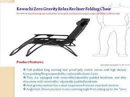 Folding Recliner Chair Kawachi Zero Gravity Relax Recliner Folding Chair Youtube