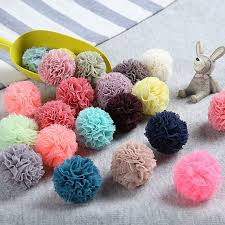 tulle pom poms 1 3 mini tulle pompoms in your choice of colors tulle pom pom
