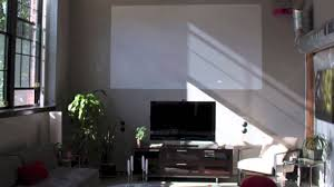 south shore audio video installation projector with paint on
