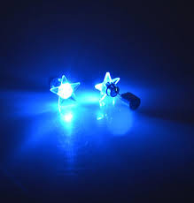 light up earring studs 1 pair 2pcs fashion party accessories light up led bling ear