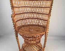 Cane Peacock Chair For Sale Wicker Doll Chair Etsy