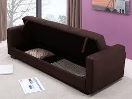 canapé tissu marron canapé convertible tissu marron 3 places avec coffre de