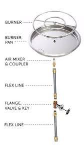 Fire Pit Burner Kits by T24itck 24 T Burner In Table Diy Propane Fire Pit Kits Wine