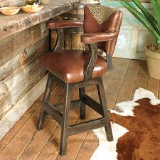 rustic leather bar stools