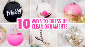10 ways to diy a clear ornament hgtv handmade