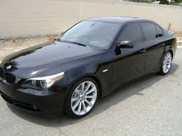 bmw 545i 2004 2004 bmw 545i black black fully loaded m5 wheels 22900