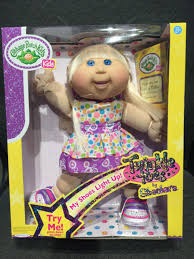 dolls that light up cabbage patch kids twinkle toes caucasian blonde joelle maya