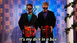 Dick In A Box Meme - justin timberlake snl gif find share on giphy