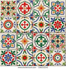 gorgeous seamless pattern white colorful moroccan portuguese