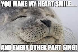 My Heart Meme - satisfied seal meme imgflip