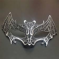 sparkling bat vampire lace eye mask for masquerade halloween