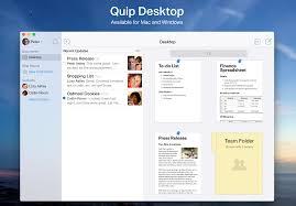 Spreadsheet For Mac Quip Introducing Quip Desktop