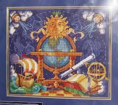 vintage astronomer s needlepoint kit bucilla 4752 globe