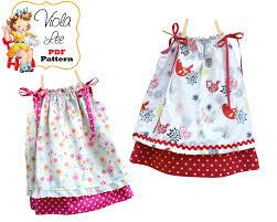 pillowcase dress pattern double layer dress sewing pattern