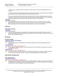 home inspection report form template sample home inspection
