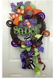 Halloween Wreathes Spooky Grapevine Wreath Halloween Grapevine Wreath Colorful
