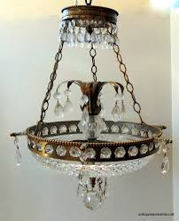 Neoclassical Chandeliers Ch727 Neoclassical Bronze And Crystal 3 Light Chandelier Antique