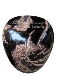 petrified wood side table oval shape indonesia petrifiedwood com