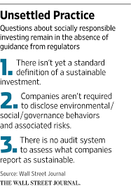 Letter Of Intent Finance by Does Socially Responsible Investing Make Financial Sense Wsj