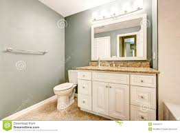 Granite Bathroom Vanity Bathroom Vanity Cabinet With White Granite Top Stock Photo Image