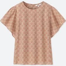 blouse pics bmc printed sleeve blouse uniqlo