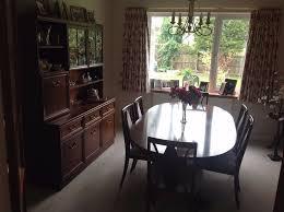 GPlan Garrick Mahogany Dining Room Table  Chairs And Dresser - Mahogany dining room set
