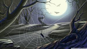 halloween spider web background spider web full moon hallowmas halloween hd desktop wallpaper