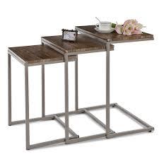divano ottomano 38 17 ikayaa 3pcs metallo tavolini impilabili frame set