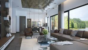 top three open plan living room interior designs which show an