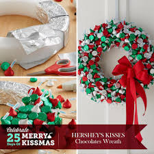 handmade hershey kiss wreath crafts daycare pinterest