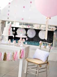 pink and gold cake table decor make your own tissue paper tassel garland hgtv