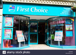 First choice travel agents shop stroud uk stock photo 37954464