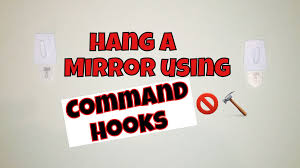 Picture Hangers Without Nails by How To Hang A Mirror Command Hooks Review Youtube