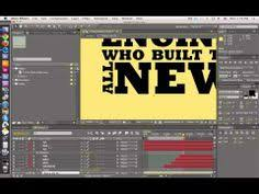 tutorial kinetic typography after effects animating 3d text with camera kinetic typography part 2 after