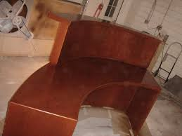 Shabby Chic Reception Desk Custom Curved Cherry Reception Desk By V S F Interiors U0026 Woodworks